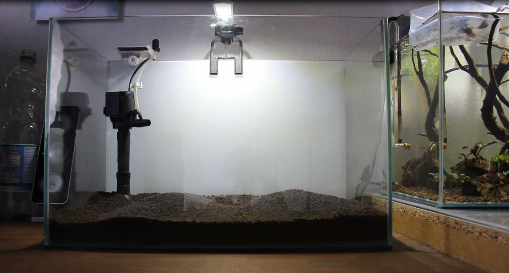 Garnelenaquarium einrichten Bodengrund
