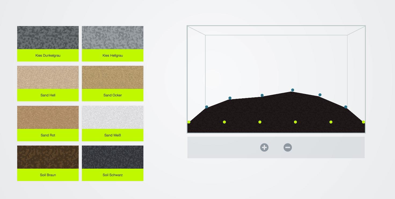 Bodengrund auswählen und anhäufen