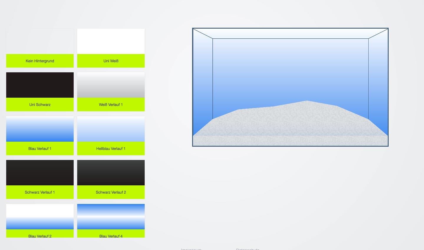 Passenden Aquariumhintergrund auswählen
