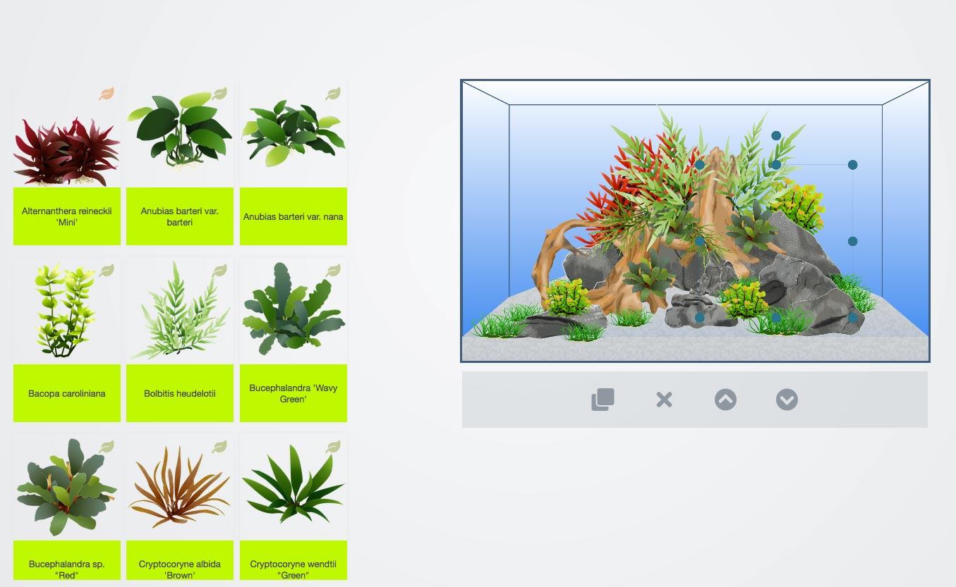 Pflanzen in Scape It nach Lust und Laune anordnen